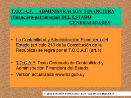 T.O.C.A.F. ADMINISTRACIÓN FINANCIERA (financiero