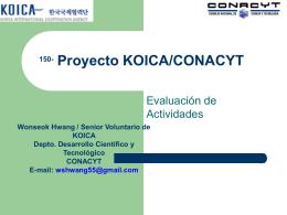 actividades en conacyt - Consejo Nacional de Ciencia y Tecnología