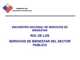 Los Servicios de Bienestar del sector público no tienen