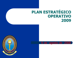 plan estratégico operativo - Universidad Colegio Mayor de