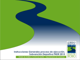 Instrucciones Generales proceso de ejecución Subvención