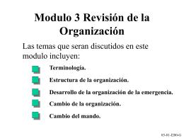 Modulo 3 Esquema de la Organización
