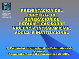 Tercer Encuentro Internacional de Estadísticas de Género
