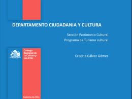 Presentación de Cristina Gálvez - CNCA