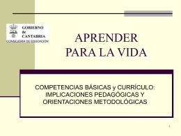 Competencias Básicas y Currículo.