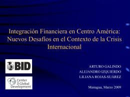 La Integración Financiera en el Contexto de la Crisis Internacional