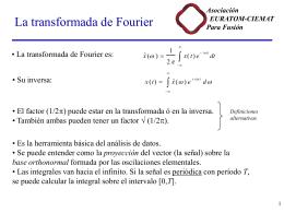 Análisis espectral con Fourier