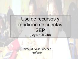 Uso recursos SEP - Asociación Chilena de Municipalidades