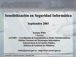 Sensibilización en Seguridad Informática