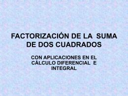 FACTORIZACIÓN DE LA SUMA DE DOS CUADRADOS