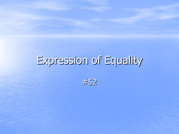 Expression of Equality - St. Joseph Hill Academy