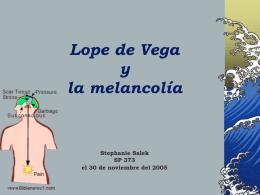 Lope de Vega y la melancolía