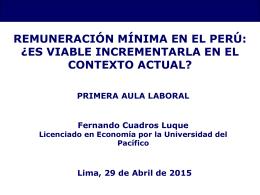 Remuneración mínima en el Perú