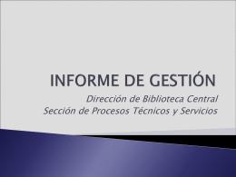 Procesos Técnicos y Servicios - catalogo electronico de la