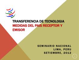 transferencia de tecnologia medidas del pais receptor y