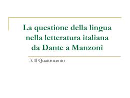 La letteratura italiana del Cinquecento