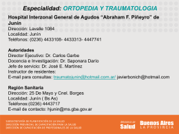 Diapositiva 1 - Hospital Interzonal General de Agudos