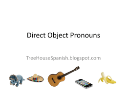 direct object pronouns - Kenston Local Schools