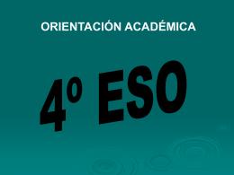 Orientaciones para alumnos de 4º de la E.S.O.