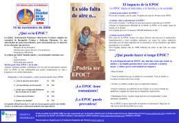 El impacto de la EPOC