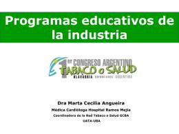 Publicidad del tabaco en los jóvenes: Dra. Marta Angueira