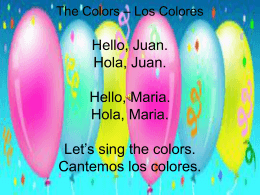 The Colors - msdaltonsspanishclass