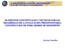 2.2. Construcción de indicadores de Desempeño (Conceptos)