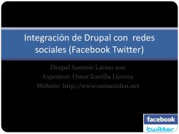 Integración de Drupal con redes sociales (Facebook Twitter)