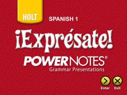Holt Spanish 1