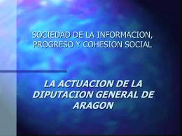 16.30 La actuación de la Diputación General de Aragón