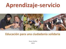 Taller Trabajo Emprendimiento APS Educación ciudadanía solidaria