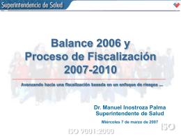Balance 2006 - Superintendencia de Salud