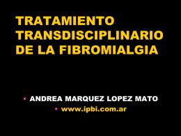 Tratamiento Fibro Pfiezer 2013 - Instituto de Psiquiatría Biológica