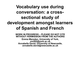Vocabulary use during conversation: a cross-sectional