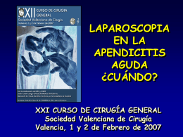 Laparoscopia en la apendicitis aguda ¿Cuándo?