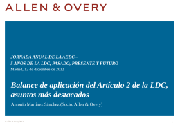 AEDC Presentacion Allen & Overy