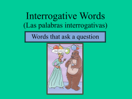 interrogative words File