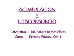 Descargar Acumulación y Litisconsocio