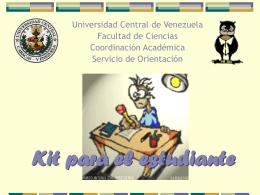 kit_para_el_estudiante - Facultad de Ciencias-UCV