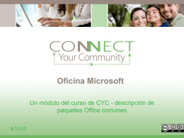 Microsoft Office - Connect Your Community 2.0