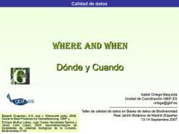 Calidad de datos: el dónde y el cuando