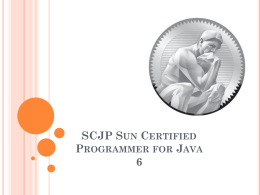 SCJP SUN CERTIFIED PROGRAMMER FOR JAVA 6 - clic