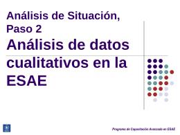 Programa de Capacitación Avanzada en ESAE