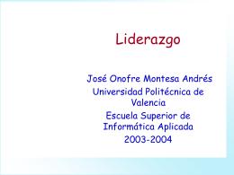 Liderazgo - Universidad Politécnica de Valencia