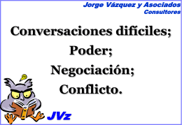Negociación - Jorge Vazquez