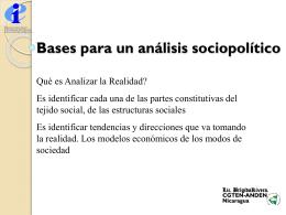 Bases para un análisis sociopolítico