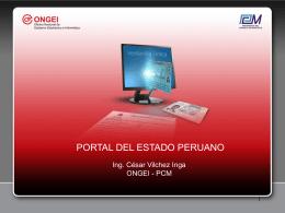 PORTAL DEL ESTADO PERUANO www.peru.gob.pe