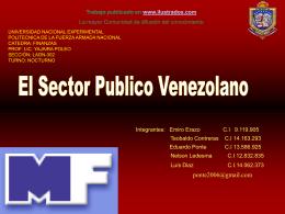 El Sector Publico Venezolano