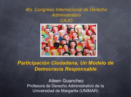 Participación Ciudadana, un Medio de Control del Poder y