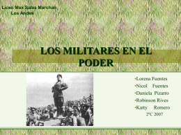 Los militares en el poder - Liceo Max Salas Marchán de Los Andes